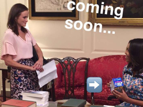 Alexis Bledel alias Rory bei First Lady Michelle Obama