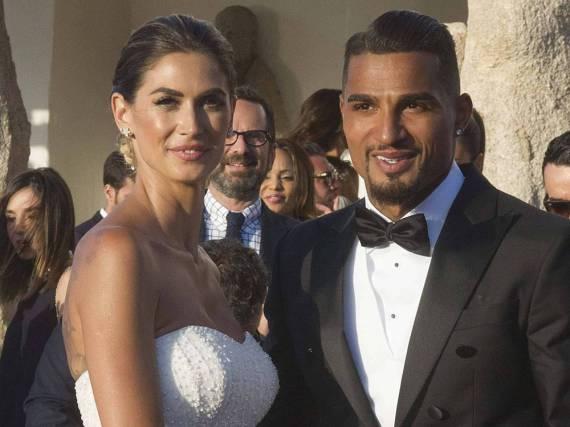 Das Brautpaar bei der Hochzeit: Melissa Satta und Kevin Prince Boateng