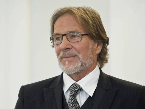 Schauspieler Götz George bei der Verleihung des Verdienstordens der Bundesrepublik Deutschland im Oktober 2014