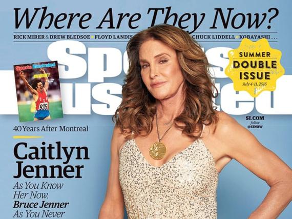 Caitlyn Jenner zeigt sich mit Goldmedaille um den Hals auf dem Cover der