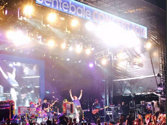 Coldplay waren als Headliner für das Benefiz-Konzert dabei.
