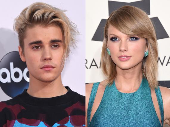 Justin Bieber und Taylor Swift gelten als