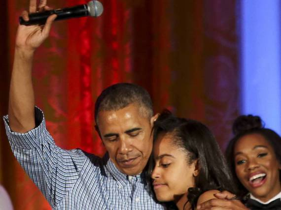 Barack Obama mit seiner Tochter
