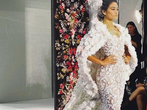 Shanina Shaik im Brautkleid von Ralph & Russo