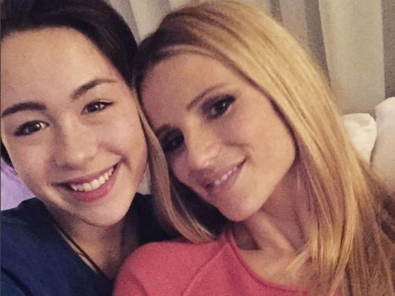 Aurora (l.) und ihre Mutter Michelle Hunziker