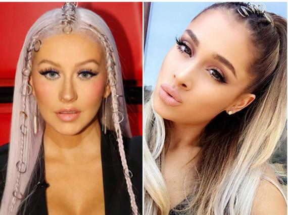 Zopf mal anders: Christina Aguilera und Ariana Grade tragen Piercings in den Haaren