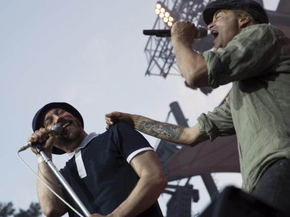 Toten-Hosen-Frontmann Campino mit den Beatsteaks auf dem