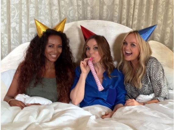 Mel B, Geri Horner und Emma Bunton (v.l.n.r.) planen ein Comeback der Spice Girls