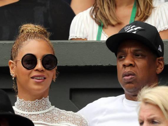 Beyoncé und Jay Z beim Wimbledon-Finale der Damen auf der Tribüne