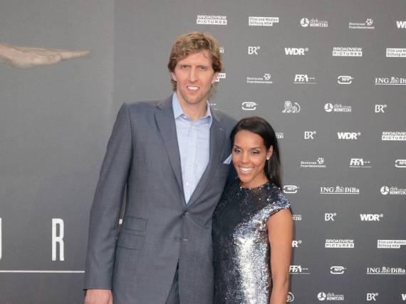 Dirk Nowitzki gemeinsam mit seiner Frau Jessica Olsson