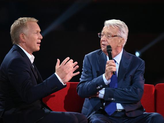 Johannes B. Kerner (l.) begrüßte Dieter Thomas Heck bei