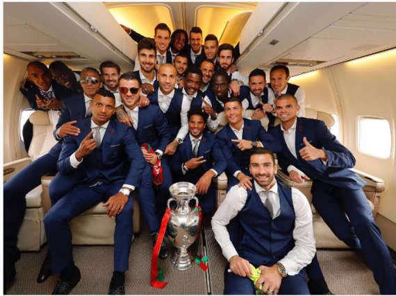 Die Europameister 2016: Die Jungs der portugiesischen Nationalmannschaft.