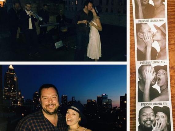 Romantisch: Das Paar verlobte sich auf einer Dachterrasse mitten in Manhattan