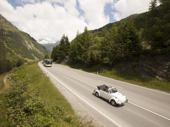 Die Felbertauernstraße führt durch den ältesten und größten Nationalpark Österreichs