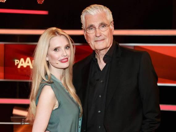 Mirja und Sky du Monat Anfang März bei einer TV-Aufzeichnung - damals noch als Paar