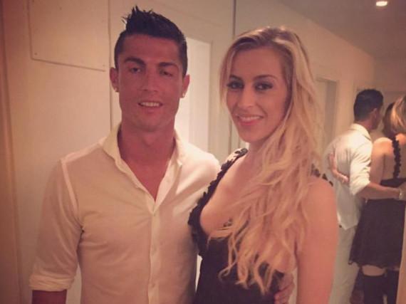 Verena Kerth und Fußball-Europameister Cristiano Ronaldo
