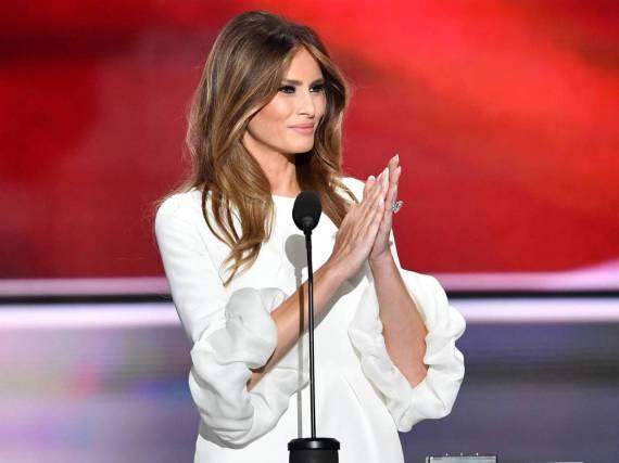 Melania Trump bei ihrem ersten großen Auftritt beim Parteitag der US-Republikaner