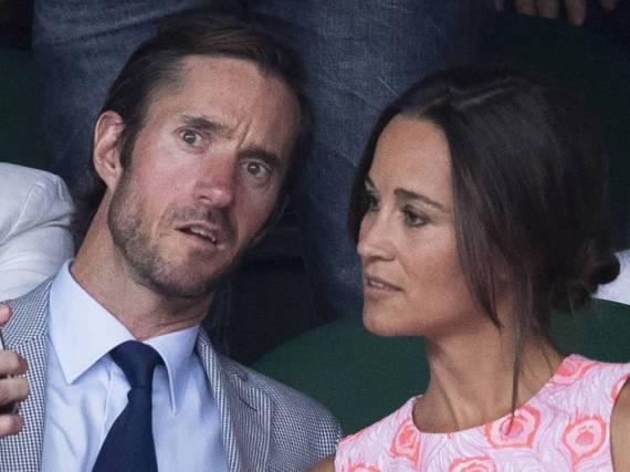 James Matthews und Pippa Middleton auf der Tribüne beim Tennisturnier in Wimbledon