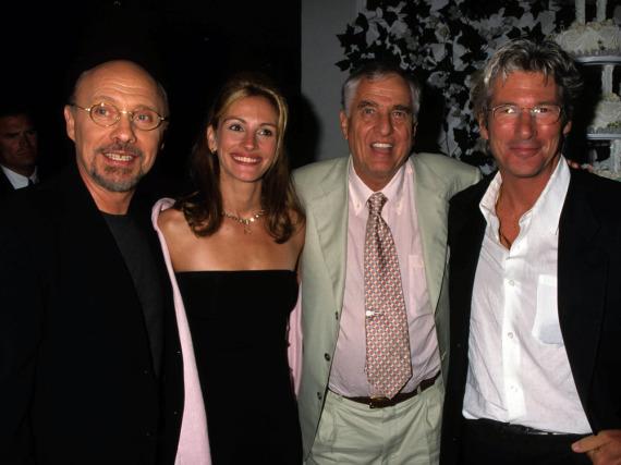 Garry Marshall (2.v.r.) mit Hector Elizondo, Julia Roberts und Richard Gere (v.l.n.r.), seinen Stars aus