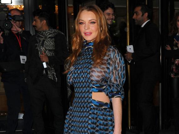 Lindsay Lohan, hier auf einem Event in London, hat derzeit anscheinend schwere Beziehungsprobleme