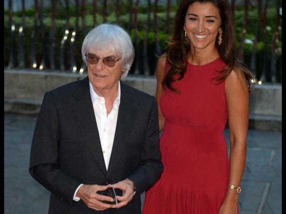 Bernie Ecclestone ist in dritter Ehe glücklich mit der Brasilianerin Fabiana Flosi verheiratet