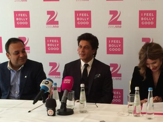 Shah Rukh Khan bei der Präsentation des Bollywood-Senders