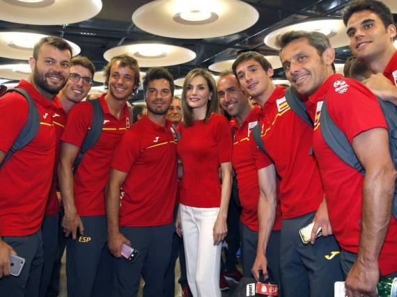 Königin Letizia bei der Verabschiedung des spanischen Olympia-Teams