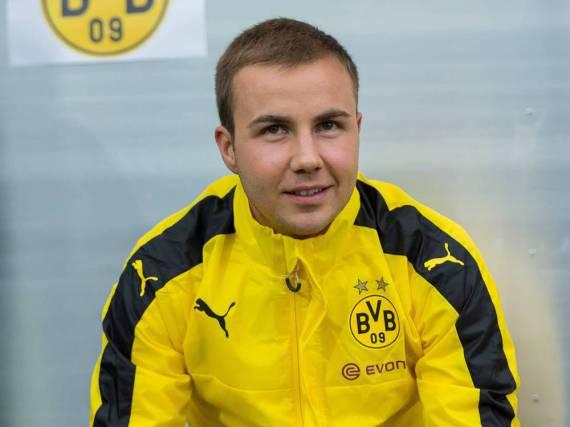 Mario Götze wechselte nicht nur den Verein, sondern auch seine Frisur
