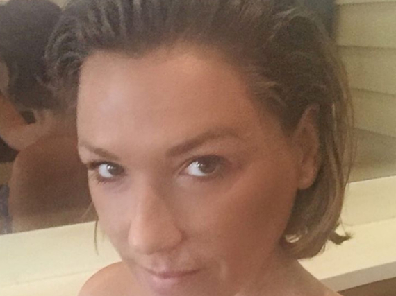 Simone Ballack trägt jetzt kürzere Haare