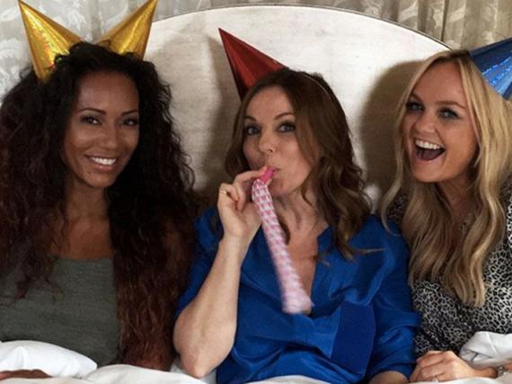 Platzt das Spice-Girls-Comeback? Mel B (l.) Geri Horner (Mitte) und Emma Bunton hoffen auf ein Happy End