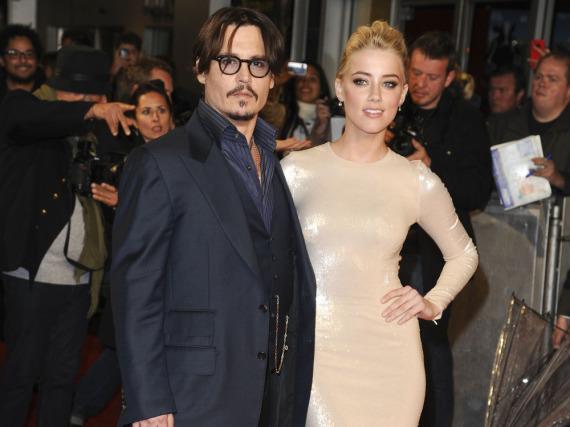 Johnny Depp und Amber Heard im Jahr 2011 bei der Premiere von