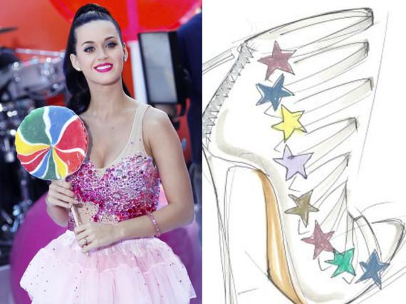 Glamour am Fuß: Katy Perrys Schuhkollektion wird wahrscheinlich knallbunt