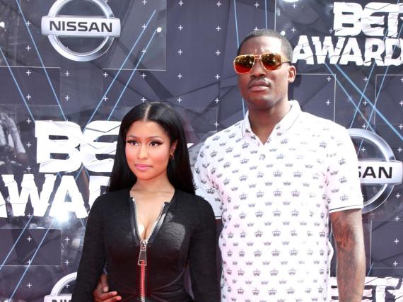 Nicki Minaj mit ihrem Freund Meek Mill