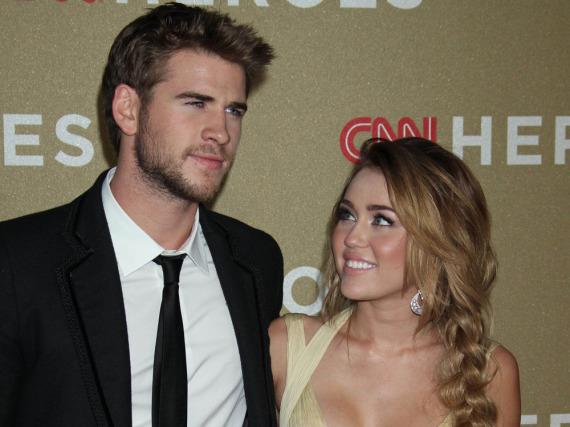 Liam Hemsworth und Miley Cyrus während ihres ersten Beziehungsversuchs im Jahr 2011