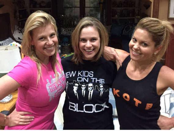 Jodie Sweetin, Andrea Barber und Candace Cameron Bure (v.l.) waren bestens auf New Kids on the Block eingestimmt.