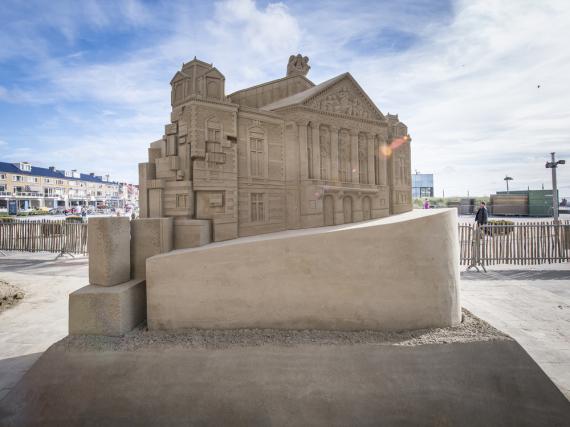 Die Sand-Nachbildung des Museums Concertgebouw