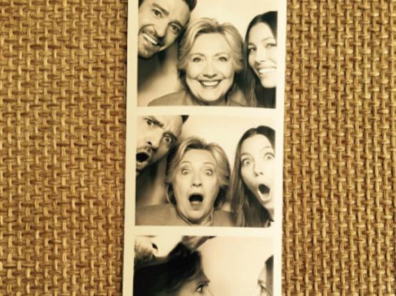 Justin Timberlake und Jessica Biel hatten sichtlich Spaß mit Hillary Clinton