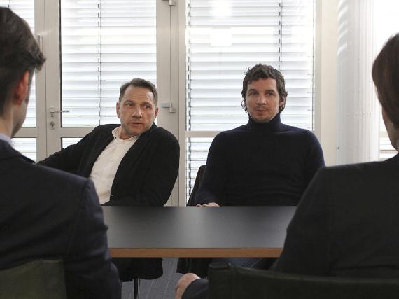 Thorsten Lannert (Richy Müller) und Sebastian Bootz (Felix Klare) ermitteln in einer Softwarefirma
