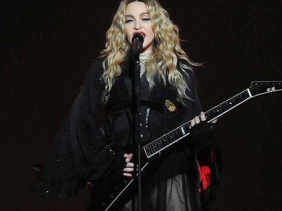 Madonna bei einem ihrer Konzerte