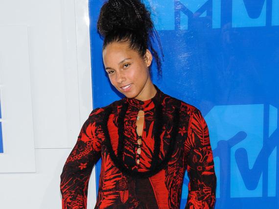 Natürlich schön: Alicia Keys bei der Verleihung der MTV Video Music Awards.