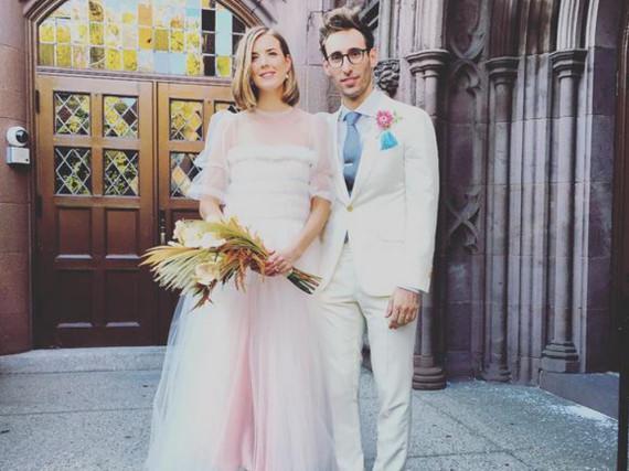 Das glückliche Ehepaar: Agyness Deyn und Joel