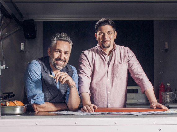 Auf kulinarischem Roadtrip durch Deutschland: Roland Trettl (l.) und Tim Mälzer