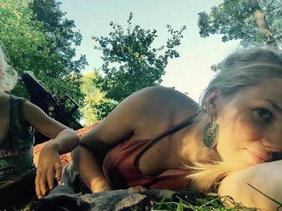 Da war's noch geheim: Sara Kulka Mitte August im Urlaub mit Töchterchen Matilda