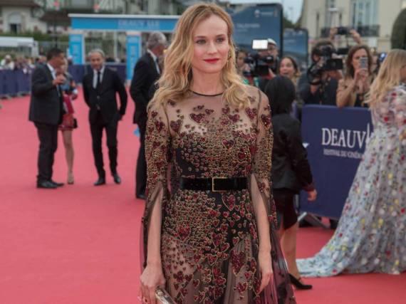 Diane Krugers Glamour-Dress stammt aus der Herbst-Kollektion des libanesischen Modedesigners Elie Saab