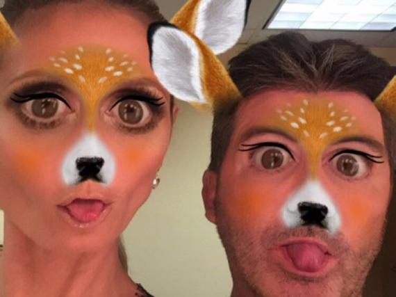 Heidi Klum und Simon Cowell posieren auf Instagram im Wild-Look