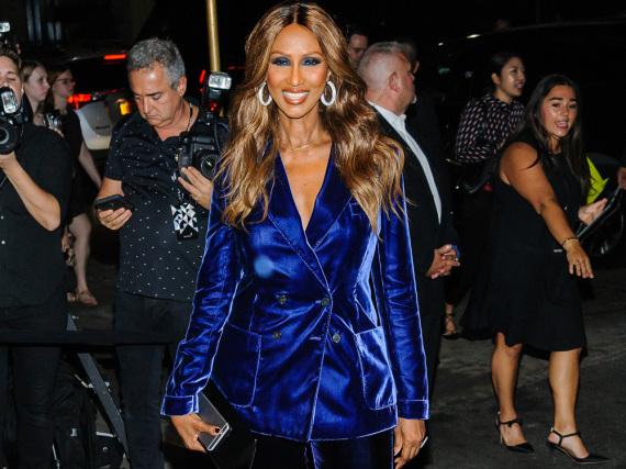 Iman bei bei der Party von Designer Tom Ford zum Auftakt der New York Fashion Week