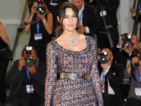 Monica Bellucci auf dem roten Teppich bei den Filmfestspielen in Venedig