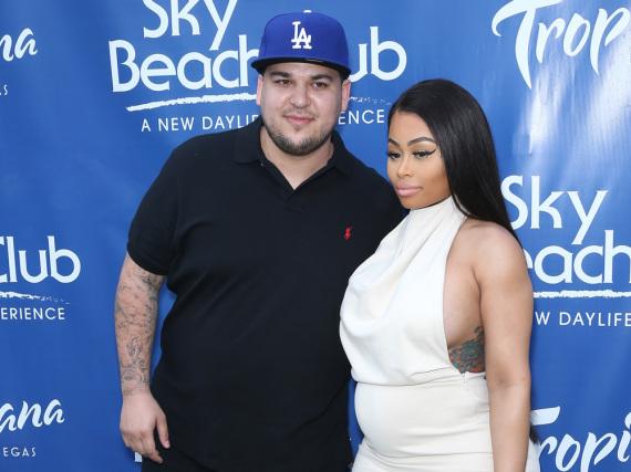Rob Kardashian und Blac Chyna bei einem Event in Las Vegas