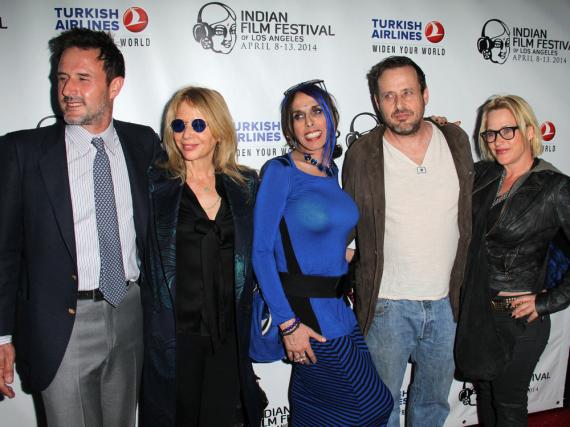 David (v.l.n.r.), Rosanna, Alexis, Richmond und Patricia Arquette im Jahr 2014