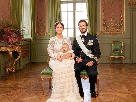 Prinzessin Sofia und Prinz Carl Philip mit ihrem Sohn Alexander